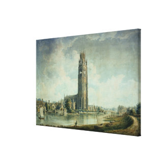Boston Stump: view from the South-west Canvas Print