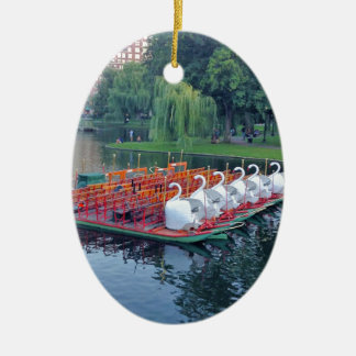 Boston Swan Boats Christmas Ornament