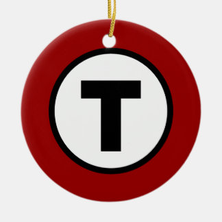 Boston T Red Line Christmas Ornament