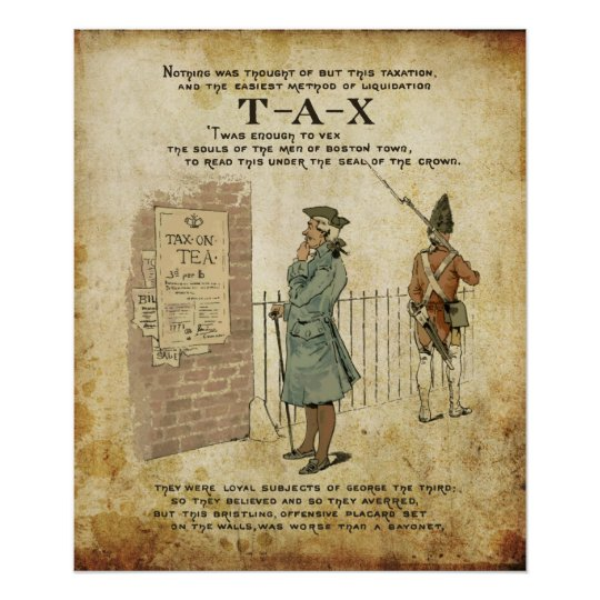 Boston tea Party Independence Day Poster