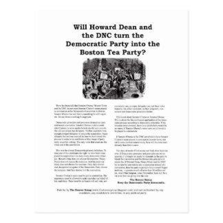Boston Tea Party postcard- version 2 Postcard