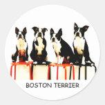 BOSTON TERRIER 丸形シール・ステッカー