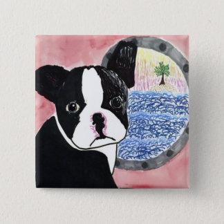 Boston Terrier 15 Cm Square Badge