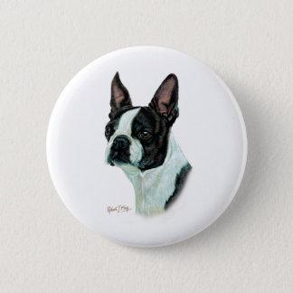 Boston Terrier 6 Cm Round Badge