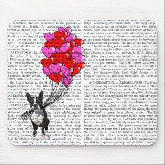 Boston Terrier And Balloons Mouse Mat