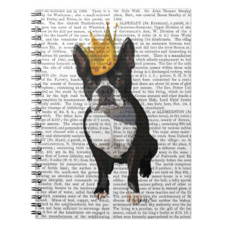 Boston Terrier And Crown Notebook