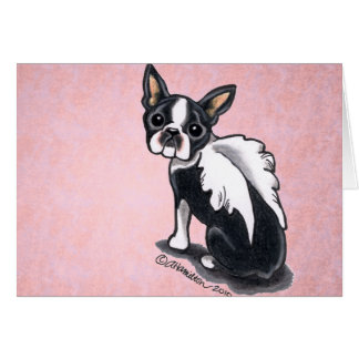 Boston Terrier Angel Custom Card