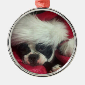 Boston Terrier-(awake) Christmas Ornament