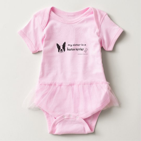 boston terrier baby bodysuit