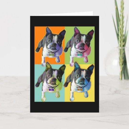 Boston Terrier Birthday Card Boston Terrier Birthday Card Zazzle