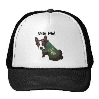Boston Terrier:  Bite Me! Mesh Hats