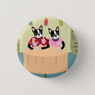 Boston Terrier Boy & Girl 3 Cm Round Badge