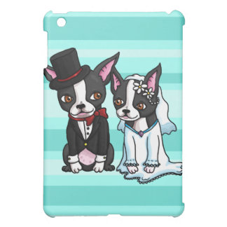 Boston Terrier Bride and Groom Cover For The iPad Mini