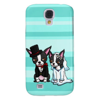 Boston Terrier Bride and Groom Galaxy S4 Case