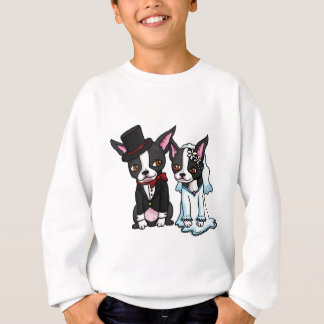 Boston Terrier Bride and Groom Sweatshirt