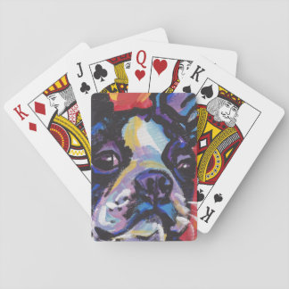 Boston Terrier Bright Colorful Pop Dog Art Playing Cards