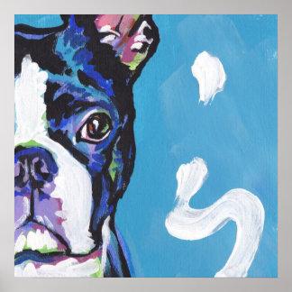 Boston Terrier Bright Pop Art Poster Print