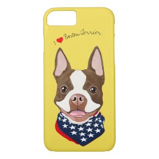 Boston Terrier (Brown) Illustrated Cell Phone Case