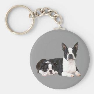 Boston Terrier Buddies Keychain