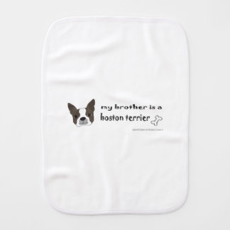 boston terrier burp cloth