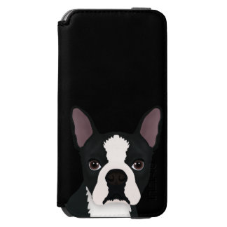 boston terrier cartoon incipio watson™ iPhone 6 wallet case