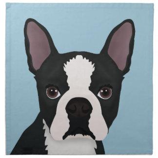 boston terrier cartoon napkin
