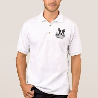 boston terrier cartoon polo shirt