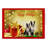 Boston Terrier Christmas Gifts Greeting Card