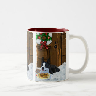 Boston Terrier Christmas Gifts Two-Tone Mug