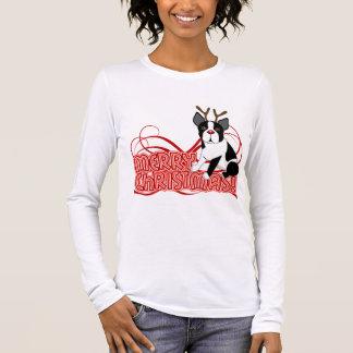 Boston Terrier Christmas Long Sleeve T-Shirt