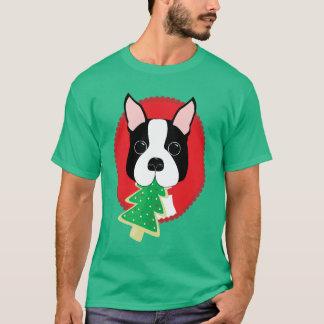 Boston Terrier Christmas T-Shirt