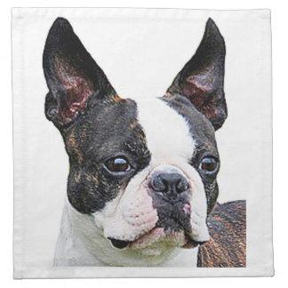 """""""Boston terrier"""" cloth napkins"""