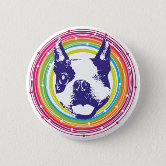 Boston Terrier - Colorful Circles 6 Cm Round Badge