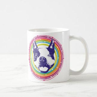 Boston Terrier - Colorful Circles Coffee Mug