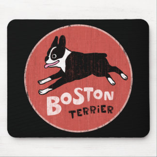 Boston Terrier Cool Retro Style Mouse Mat