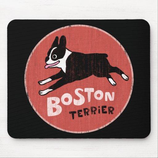 Boston Terrier Cool Retro Style Mousepad