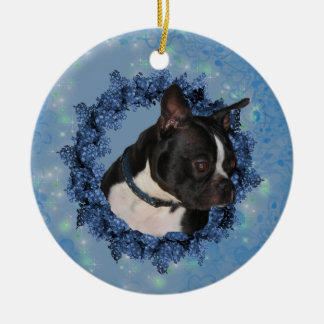 Boston Terrier Cute Dog Ornament