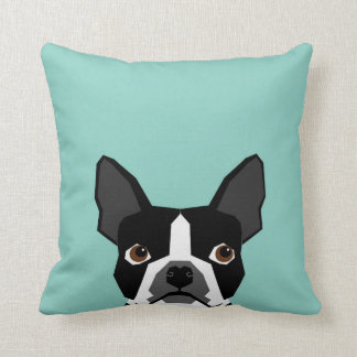 Boston Terrier - Cute dog pet art illustration Cushion