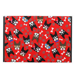 Boston Terrier Cute Mustache Funny Faces iPad Air Covers
