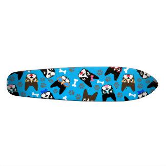 Boston Terrier Cute Mustache Funny Faces Skateboards