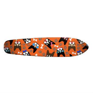 Boston Terrier Cute Mustache Funny Faces Skateboard
