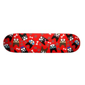 Boston Terrier Cute Mustache Funny Faces Skate Deck