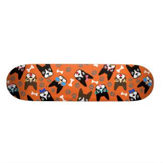 Boston Terrier Cute Mustache Funny Faces Skate Decks