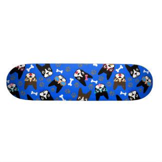 Boston Terrier Cute Mustache Funny Faces Skateboard Deck