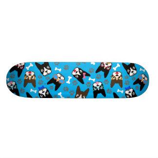 Boston Terrier Cute Mustache Funny Faces Skateboard Decks