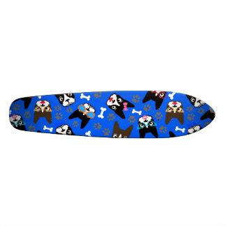 Boston Terrier Cute Mustache Funny Faces Custom Skate Board