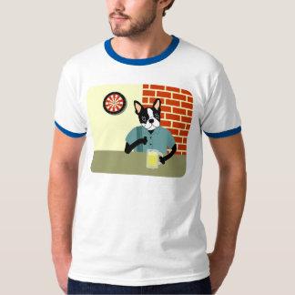 Boston Terrier Dartboard Beer Pub T-shirts