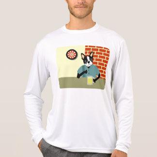 Boston Terrier Dartboard Beer Pub Tshirt