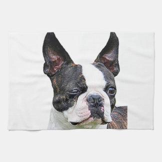 """""""Boston terrier"""" design kitchen towels"""