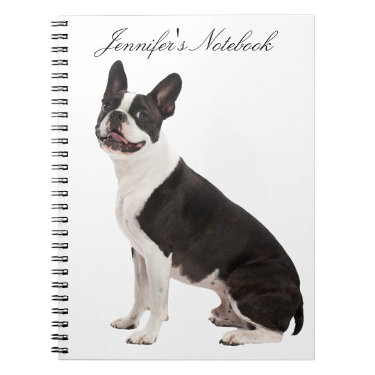 Boston Terrier dog beautiful custom girls name Notebook